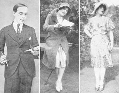 À esquerda, Lili Elbe, quando se identificava como homem. Nas imagens do centro de da direita: Elbe nos anos 30.
