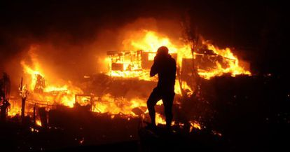 A presidenta decretou zona de catástrofe a área afetada