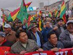 Una de las protestas en Bolivia tras las elecciones presidenciales.