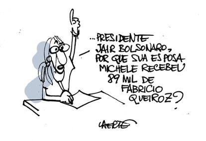 A cartunista Laerte desenhou a pergunta para Bolsonaro que ganhou o Twitter e publicou na rede.