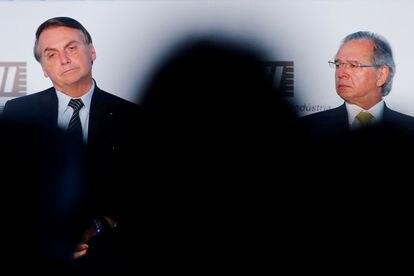 Bolsonaro e seu ministro, Paulo Guedes.
