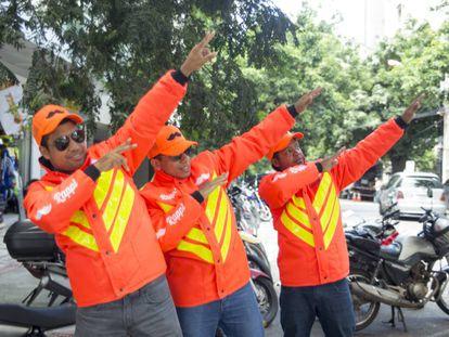 Funcionários da Rappi em Belo Horizonte.