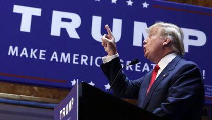 Donald Trump anuncia sua candidatura, na terça-feira, 16 de junho.