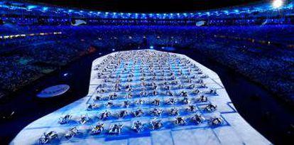 Os mosaicos na cerimônia do Rio