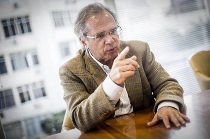 Paulo Guedes, durante a entrevista.
