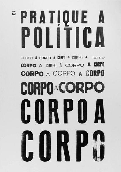 Cartaz feito por Rodrigo Maroja