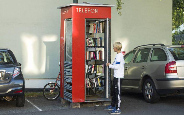 Antiga cabine telefônica
