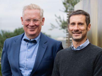 Augustinus Bader (à esquerda) com Charles Rosier, CEO de sua marca de cosméticos, que em dois anos faturou 60 milhões de euros.
