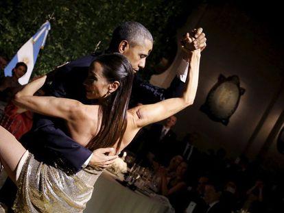Obama: jantar com tango, sindicalistas e ex-kirchneristas