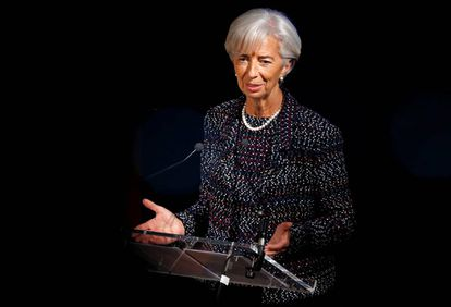 A diretora do FMI, Christine Lagarde, em Bruxelas