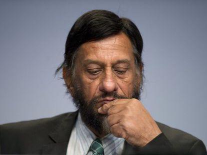 Rajendra Pachauri, em conferência em Berlim em abril de 2014.