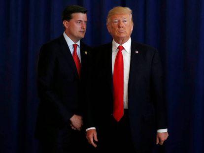 Rob Porter e Donald Trump, em agosto passado