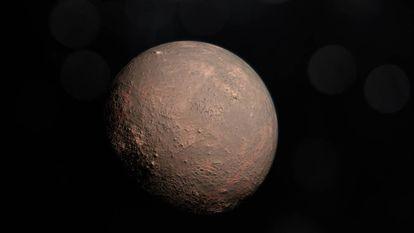 Reconstrução do planeta GJ 357 b, o mais próximo da estrela.
