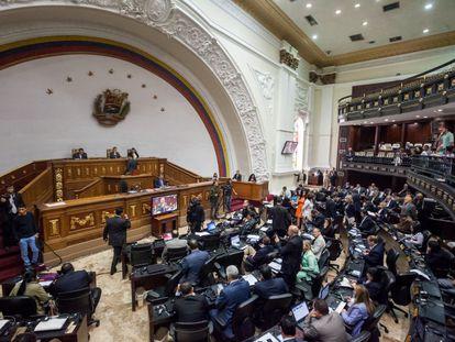 Sessão da Assembleia Nacional da Venezuela.