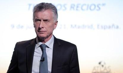 O ex-presidente argentino Mauricio Macri em 9 de julho, em Madri.