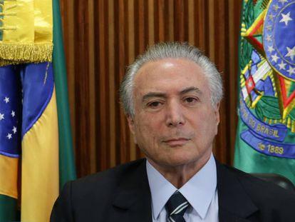O presidente interino, Michel Temer, no último dia 13, em Brasília.