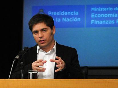 O ministro argentino da Economia, Axel Kicillof.