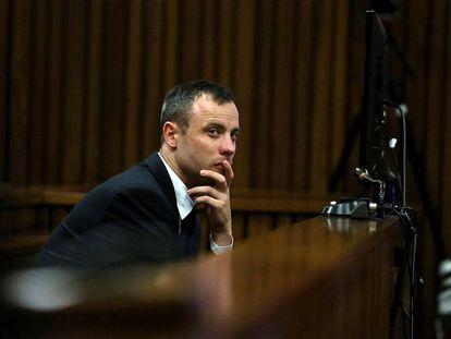 Oscar Pistorius durante o julgamento.