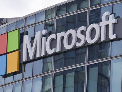 O logotipo da Microsoft.