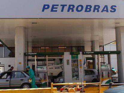 Posto de gasolina com combustível da estatal brasileira.