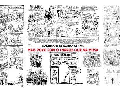 EL PAÍS, com 'Charlie Hebdo'