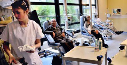 Pacientes submetidos à quimioterapia.