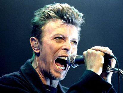 David Bowie durante um de seus concertos em Viena, em 1996.