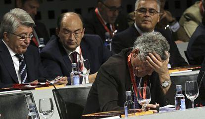 Villar durante a assembleia da RFEF no passado mês de julho.