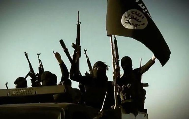 Imagem de um vídeo de propaganda do Estado Islâmico.