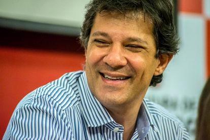 O ex-candidato à presidência brasileira Fernando Haddad em outubro de 2018.