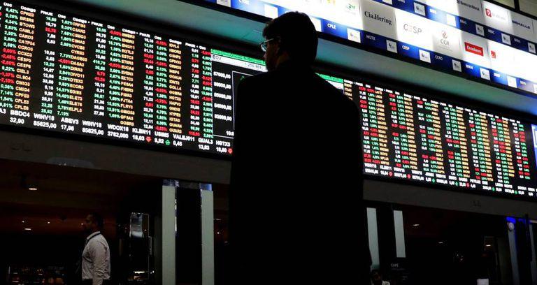 Bolsa de valores de São Paulo.