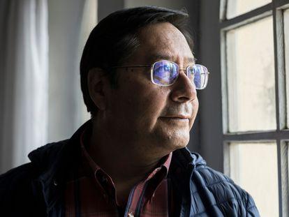 Luis Arce após entrevista ao EL PAÍS, em La Paz.