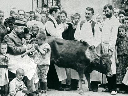 Inoculação de pus de vaca no Hospital de Crianças Pobres de Barcelona