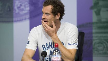 Andy Murray na entrevista coletiva