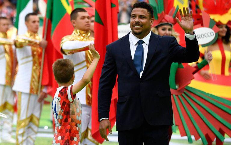 Ronaldo na abertura da Copa da Rússia.