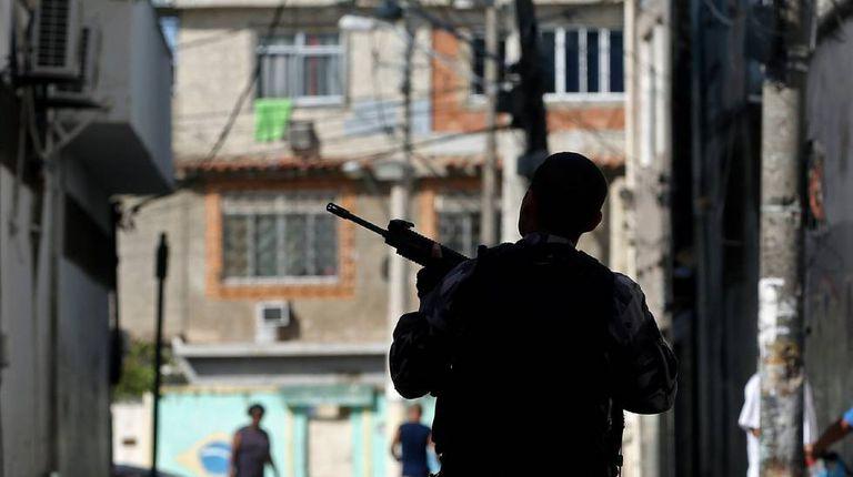 Operação policial na Cidade de Deus, no Rio de Janeiro, em 20 de novembro.