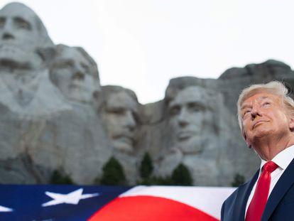 Donald Trump, nesta sexta-feira no monte Rushmore, em Dakota do Sul.