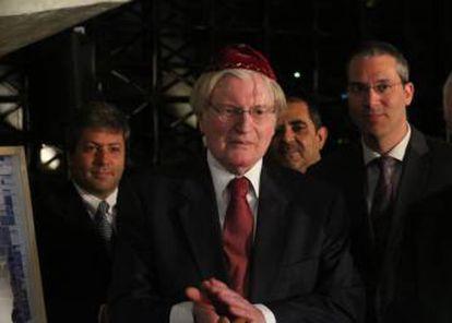 Homenagem ao rabino Henry Sobel no Instituto Vladimir Herzog.