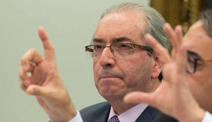 Cunha, em sessão da CCJ que julgou o recurso contra sua cassação.
