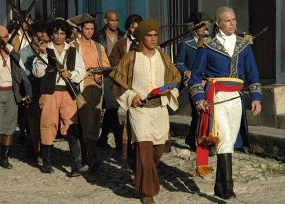 Reprodução do filme 'Miranda regresa'.