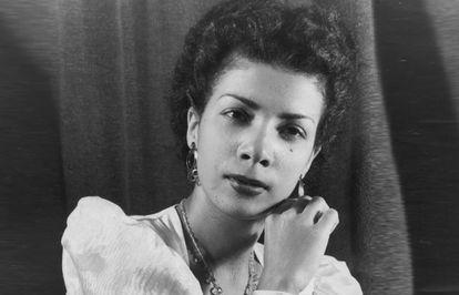 A cantora Elizeth Cardoso, primeira dama da bossa nova.