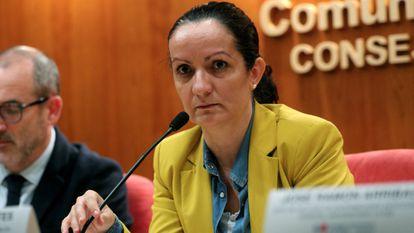 Yolanda Fontes, em uma entrevista coletiva em fevereiro.