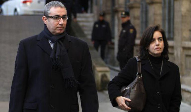 O ex-sócio de Urdangarin chegando aos tribunais de Palma de Mallorca em fevereiro de 2013.