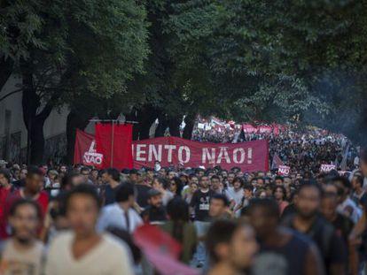 Manifestantes voltam às ruas em protesto em São Paulo, no último dia 9.