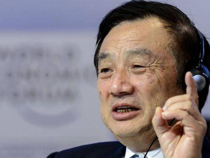 Ren Zhengfei, no Fórum de Davos de 2015
