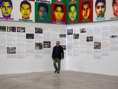 O artista chinês Ai Weiwei durante a coletiva de imprensa no Museu Universitário de Arte Contemporâneo (MUAC), na Cidade de México.