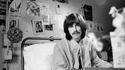 George Harrison em 1969, numa foto, como todas desta reportagem, cedida pela editora Livros del Kultrum.