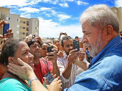 O ex-presidente Lula em evento do MTST no dia 20.