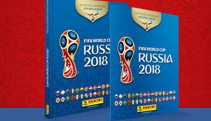 Os álbuns, de capa dura e capa mole, da Copa da Rússia 2018.