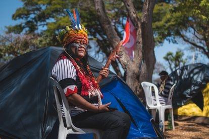 """Valdelice Veron, da etnia Guarani Kaiowá: """"somos vistos como estrangeiros no nosso próprio país""""."""